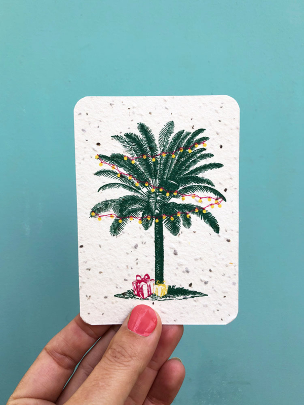 Palm & presents notecards - set of 8 cards with envelopes