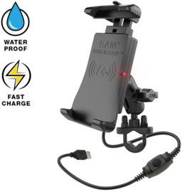 RAM Quick-Grip waterproof draadloze oplader stangmount (RAM-B-149Z-A-UN14W)
