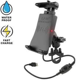 RAM Quick-Grip waterproof draadloze telefoonoplader stangbeugel (RAM-B-149Z-A-UN14W)