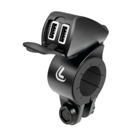 Combinatie: RAM Quick Grip draadloze oplader + Lampa USB Fix Trek
