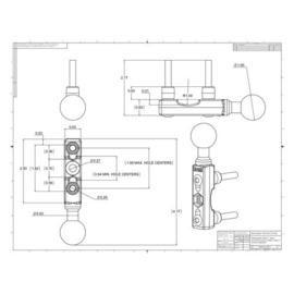 RAM Mount chroom basis voor koppeling of remhendel motor - RAM-B-309-1CHU