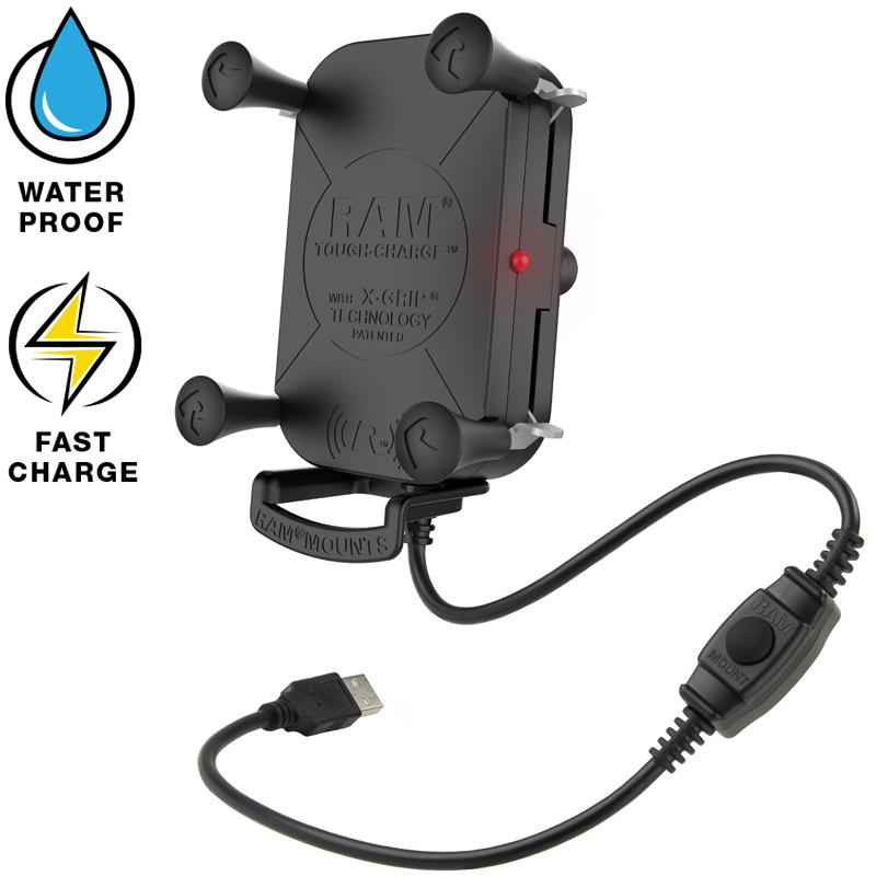 RAM Tough-Charge met X-Grip waterproof draadloze telefoonoplader RAM-HOL-UN12WB