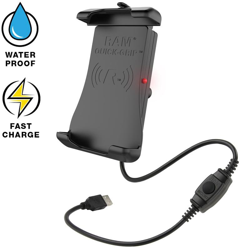 RAM Quick-Grip waterproof draadloze telefoonoplader RAM-HOL-UN14WB