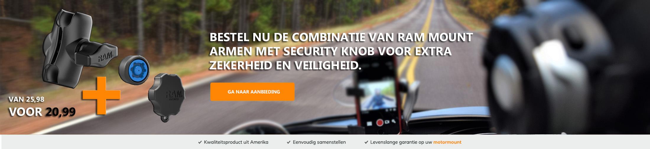 Aanbieding Arm met Security knob