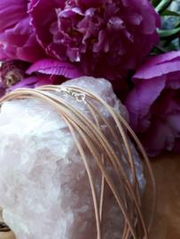 Lederen halsketting  (bruin)