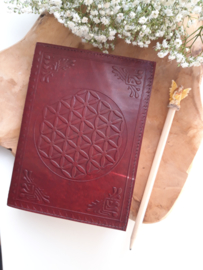 "Leren journal "" flower of life """