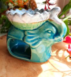 Aromabrander/olieverdamper turquoise olifant