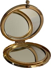 Make-up spiegel goud