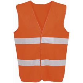 Veiligheidsvest volwassene oranje
