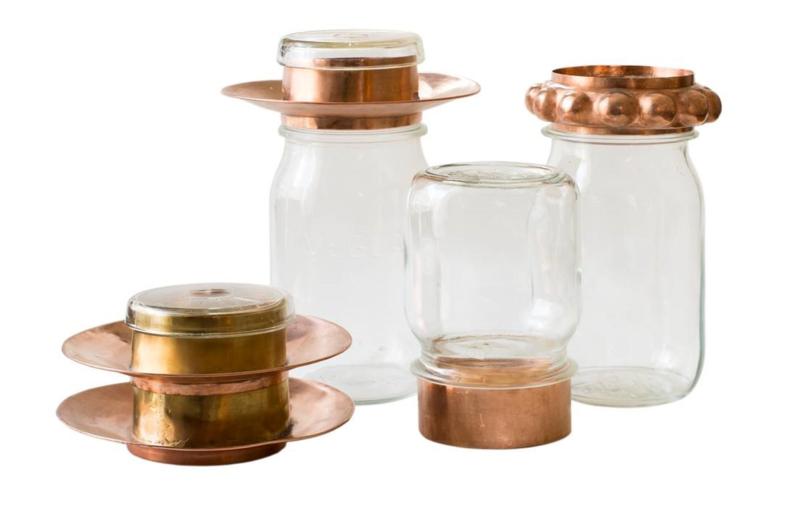 Set 3 deksels naar keuze en 4 potten
