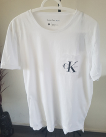 Witte Calvin Klein T-Shirt met Logo