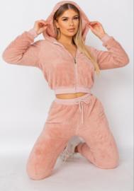 Roze Teddy Huispak