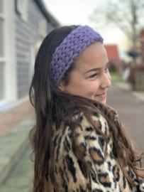 Haarband lila met glitterdraad