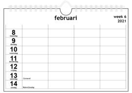 Familiekalender 2021 A4 | voor vier personen | € 9,95