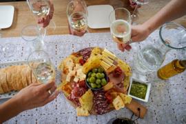 Delicatessen en wijnen van Guerrieri.