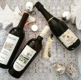 Feestdagen wijnpakket Ciù Ciù en Rocchi Paris met ricette della Nonna