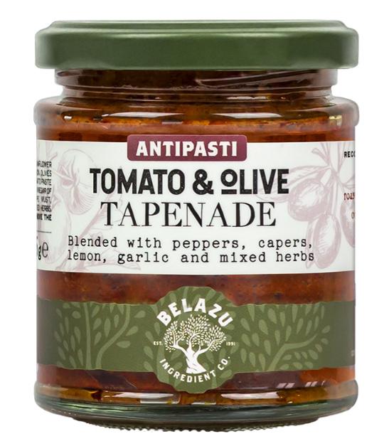 Tapenade tomaat en olijven Belazu 165g