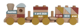 Little Dutch trein met geboorte gegevens