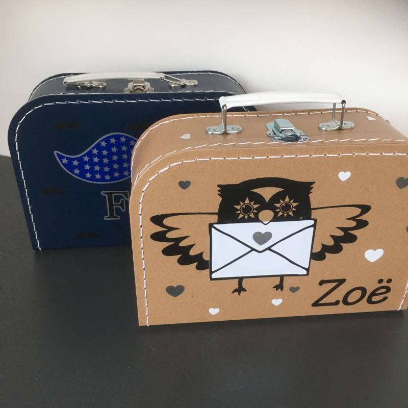 Koffertje geïnspireerd op het geboortekaartje