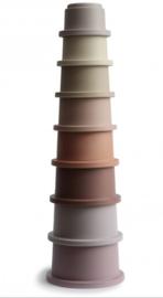 Mushie stapelcups pastel