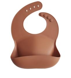 Mushie silicone bib clay