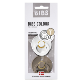 Bibs speen white/dark T1