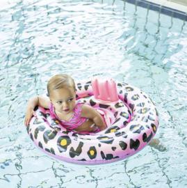 Baby Float Panter Rose Goud 0-1 jaar (Zwemband)