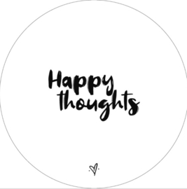 Wandcirkel happy thoughts