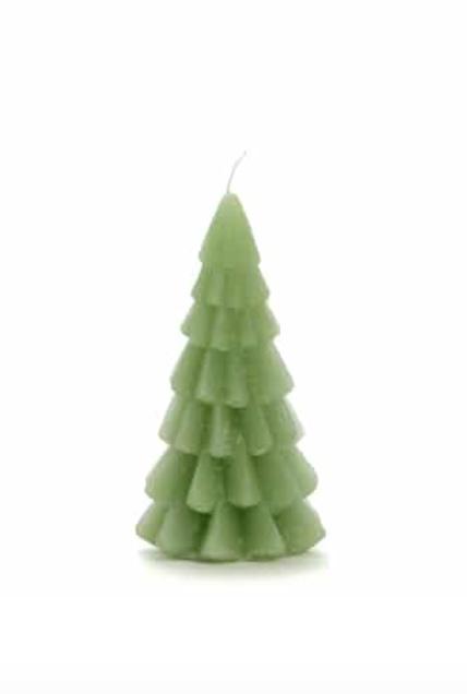 Rustik kerstboom kaars groen