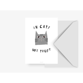 CARD ''IN CATS WE TRUST''