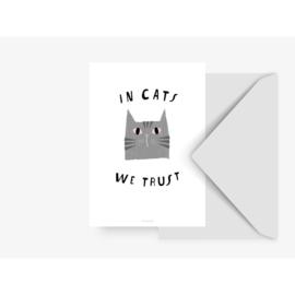 KAART ''IN CATS WE TRUST''