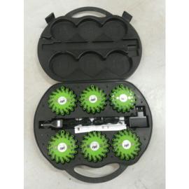 Combi Flare veiligheidsverlichting 6 box groen