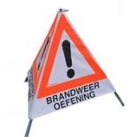 Driehoekbord BRANDWEER OEFENING