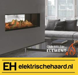 Element4 Club 100 T/e - Elektrische haard doorkijk | Tunnel model