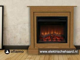 Complete Set - Aflamo haard met klassieke ombouw Vigo Eiken 90 x 90 x 30cm
