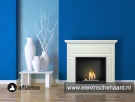 Aflamo Alta Wit 90x99x33cm - Bio Ethanol haard