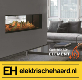 Element4 Club 100 T/e - Elektrische haard doorkijk | Tunnel model