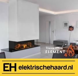 Element4 Trisore 150/e - Elektrische haard 3 zijdig met App bediening