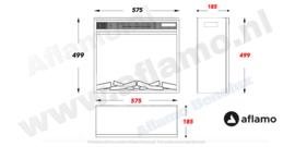 Aflamo LED60 - Elektrische inbouw sfeerhaard