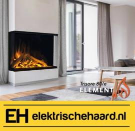 Element4 Trisore 80/e - Elektrische haard 3 zijdig met App bediening