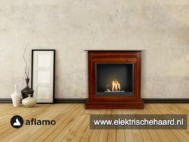 Aflamo Bodo Classic Walnoot 90x90x30cm - Bio Ethanol haard