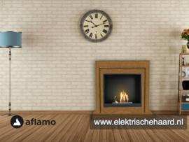 Aflamo Bodo Modern Eiken 90x90x30cm - Bio Ethanol haard