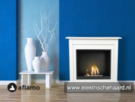 Aflamo Bodo Klassiek Wit 90x90x30cm - Bio Ethanol haard