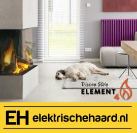 Element4 Trisore 50/e - Elektrische haard 3 zijdig met App bediening