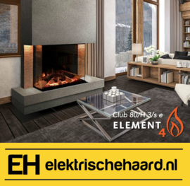 Element4 Club 80H 3/S - Elektrische haard met App bediening