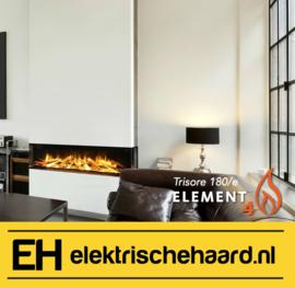 Element4 Trisore 180/e - Elektrische haard 3 zijdig met App bediening