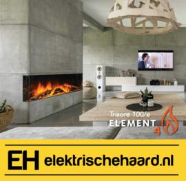 Element4 Trisore 100/e - Elektrische haard 3 zijdig met App bediening