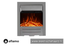 Aflamo Dexter Zilver - Voorzethaard elektrische sfeerhaard