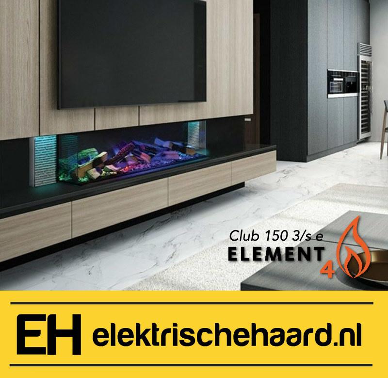 Element4 Club 150 3/S - Elektrische haard met App bediening