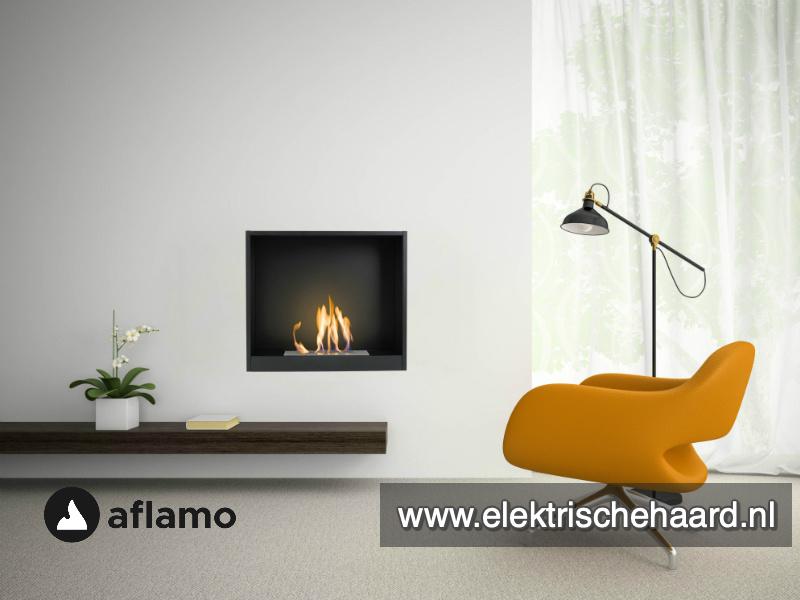Aflamo Inzet 60,5 x 51cm - Bio Ethanol inbouw sfeerhaard